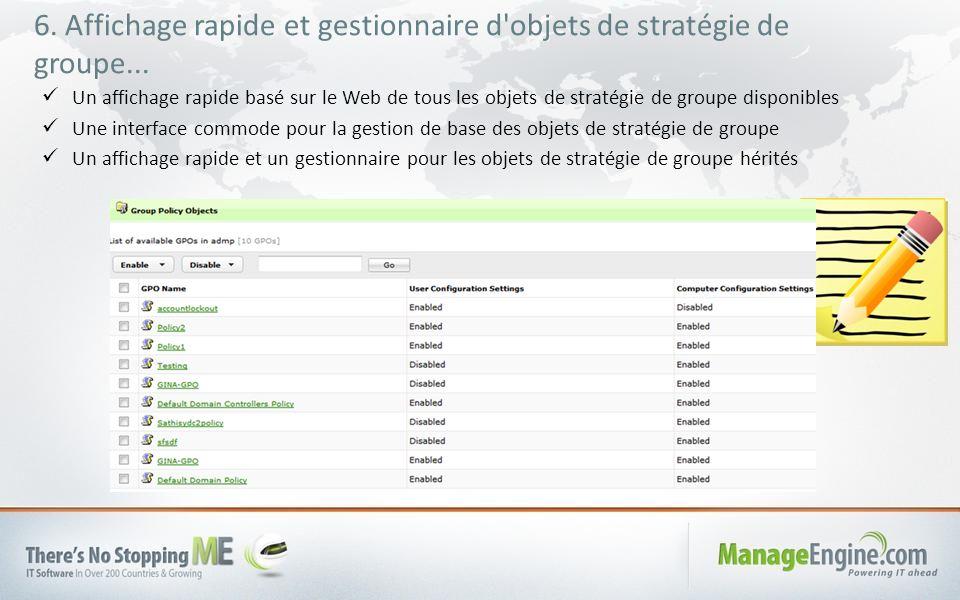 6. Affichage rapide et gestionnaire d objets de stratégie de groupe...