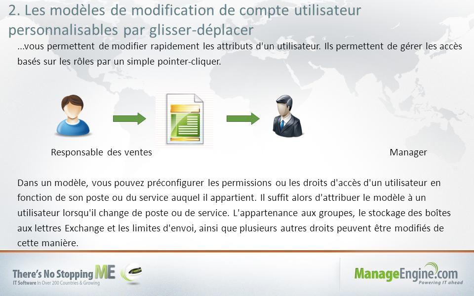 2. Les modèles de modification de compte utilisateur personnalisables par glisser-déplacer