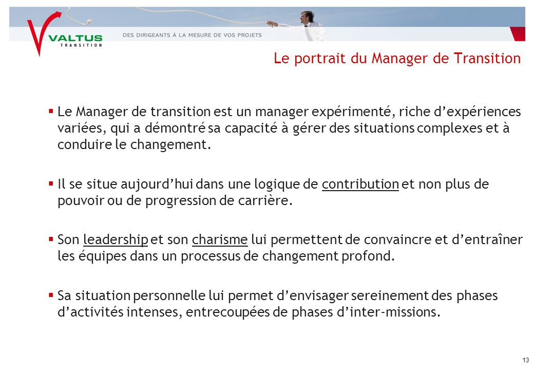 Le portrait du Manager de Transition