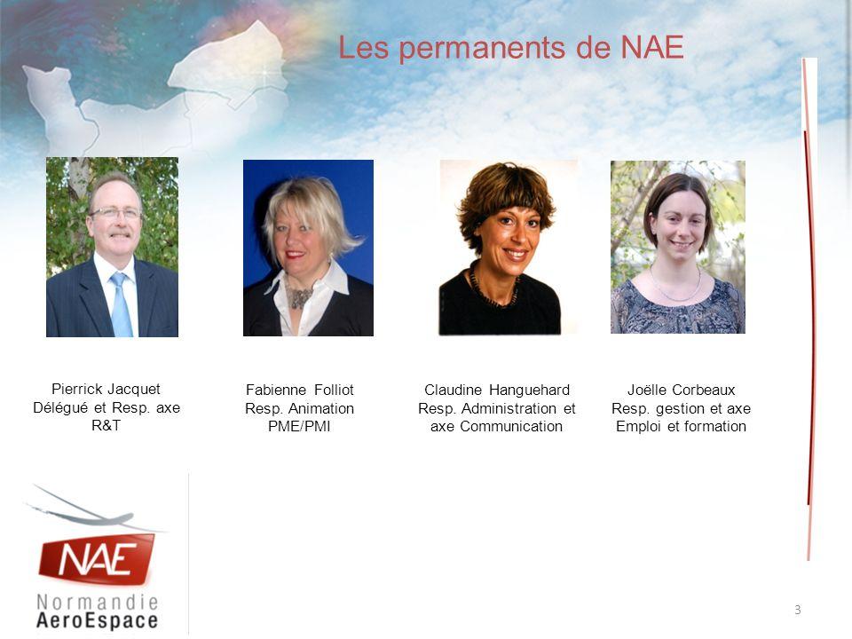 Les permanents de NAE Pierrick Jacquet Délégué et Resp. axe R&T