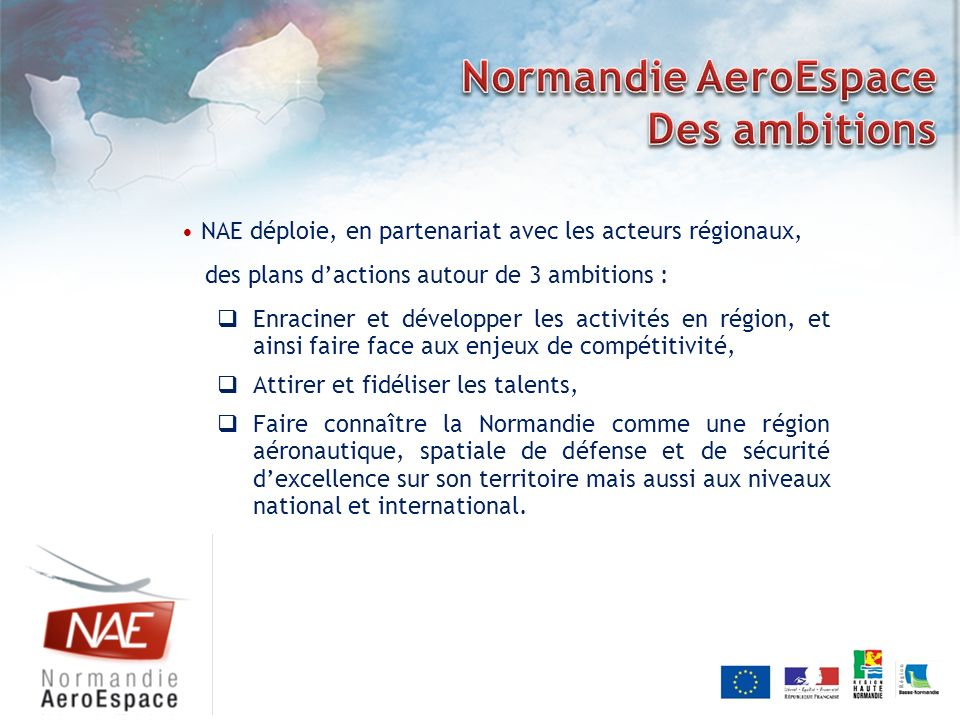 Normandie AeroEspace Des ambitions