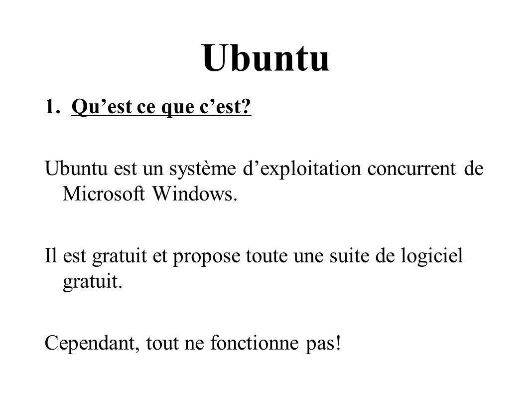 Ubuntu Qu'est ce que c'est