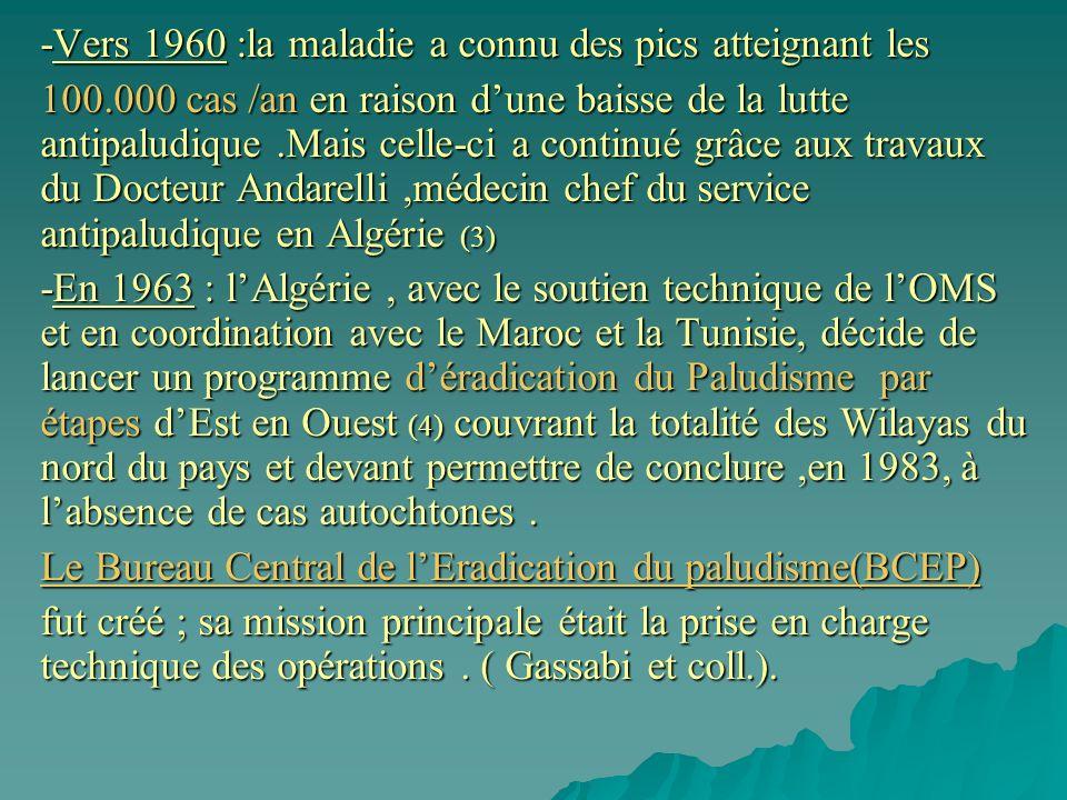 -Vers 1960 :la maladie a connu des pics atteignant les