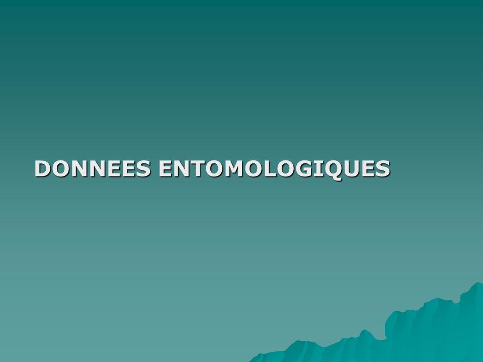 DONNEES ENTOMOLOGIQUES