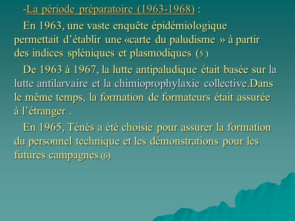 -La période préparatoire (1963-1968) :