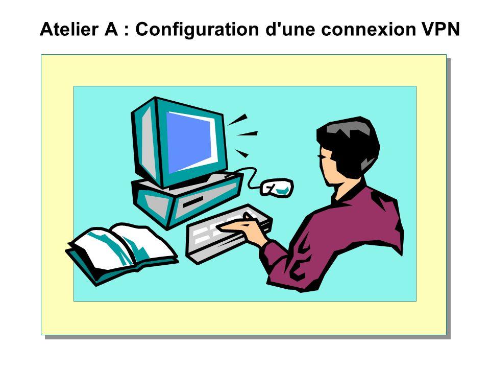 Atelier A : Configuration d une connexion VPN