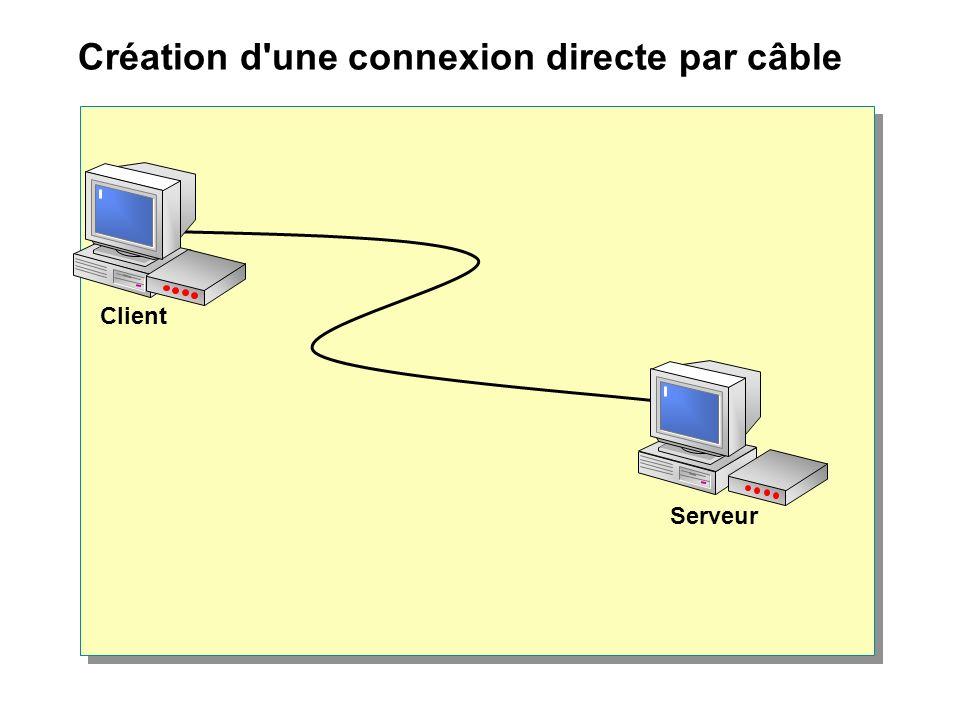 Création d une connexion directe par câble