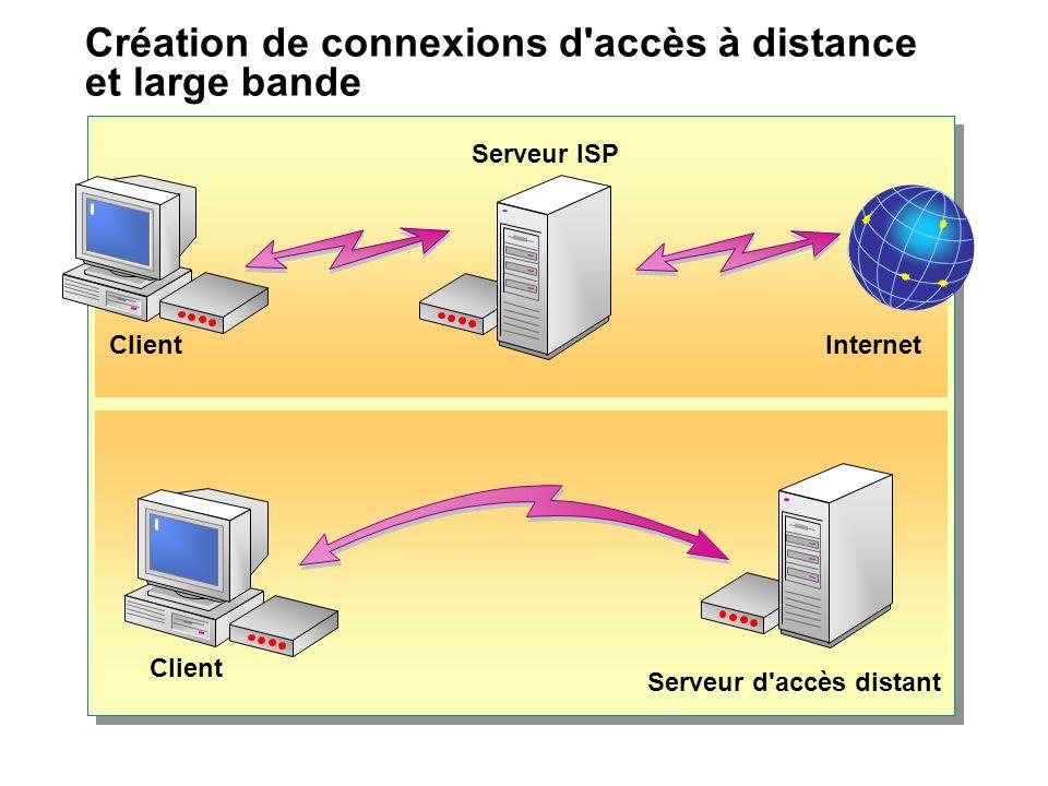 Création de connexions d accès à distance et large bande