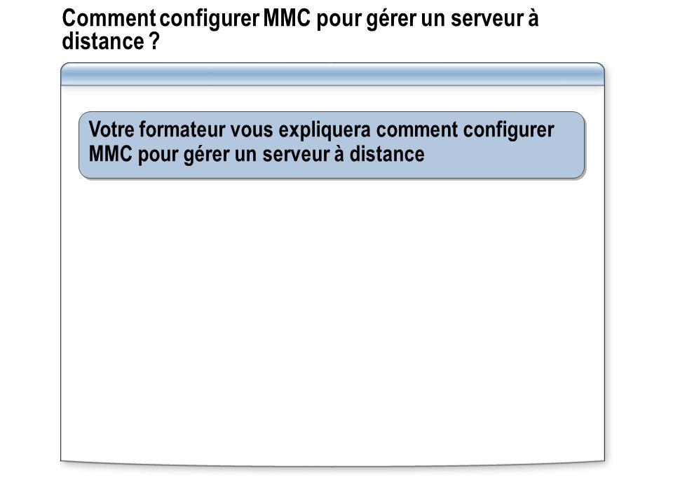 Comment configurer MMC pour gérer un serveur à distance