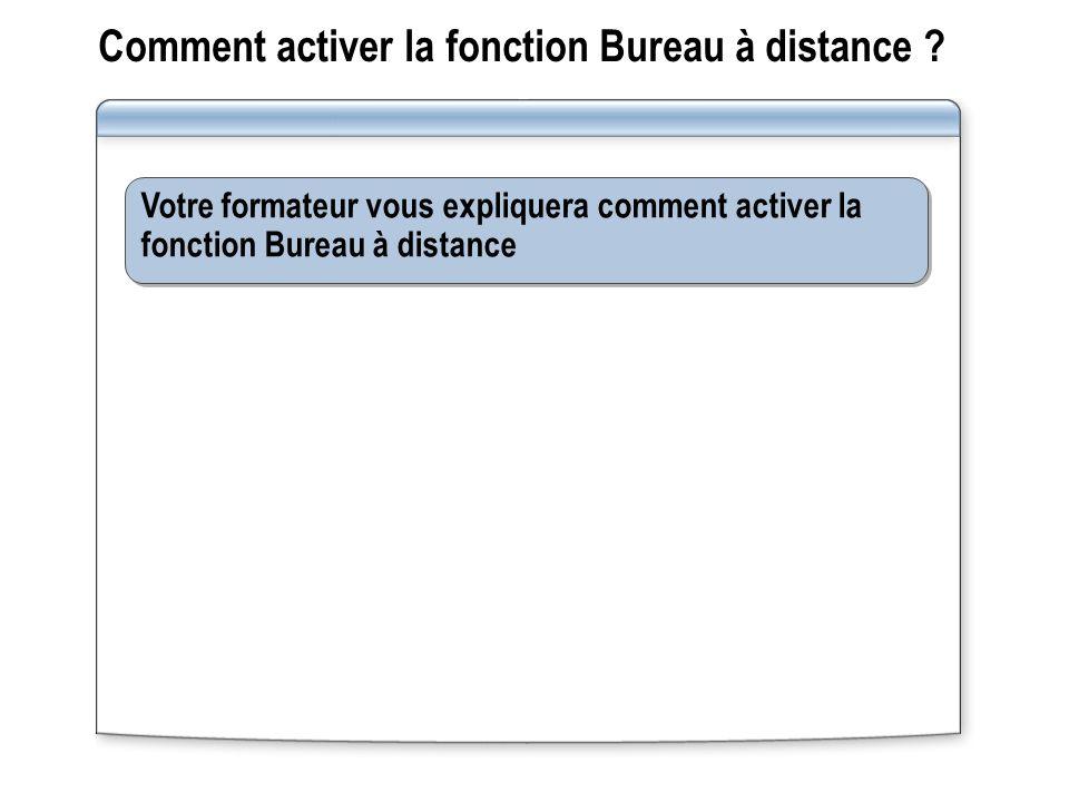 Comment activer la fonction Bureau à distance