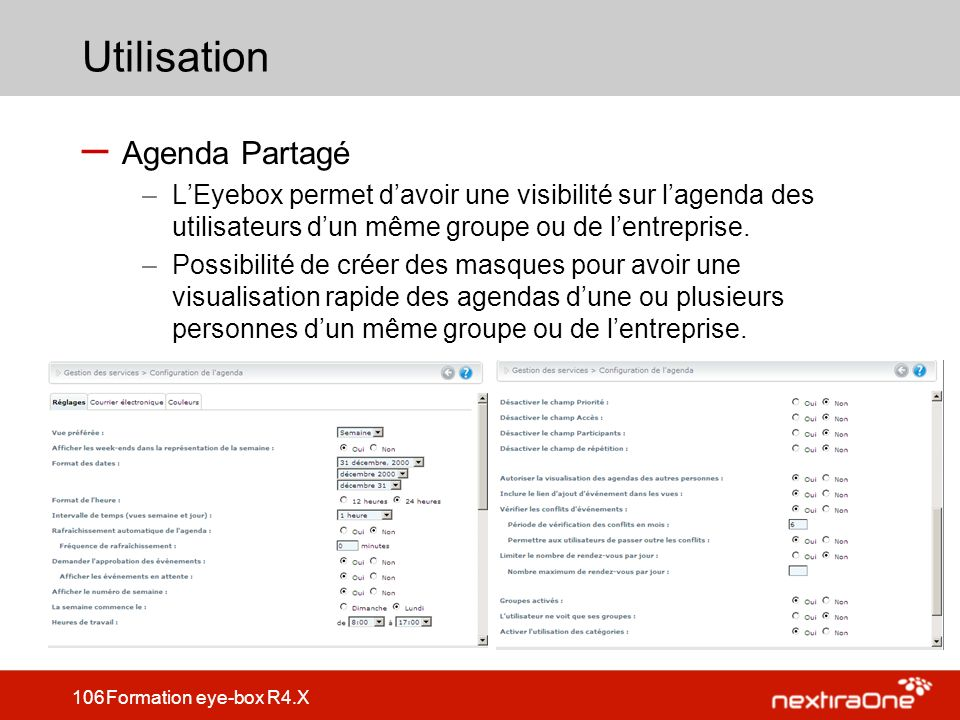 Utilisation Agenda Partagé