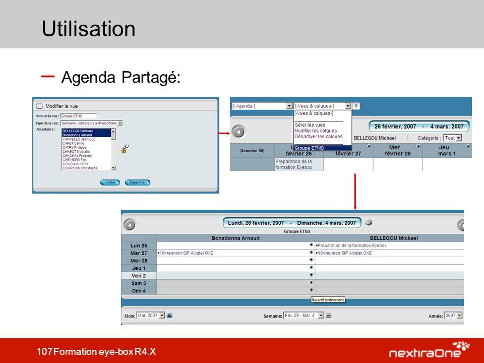 Utilisation Agenda Partagé: