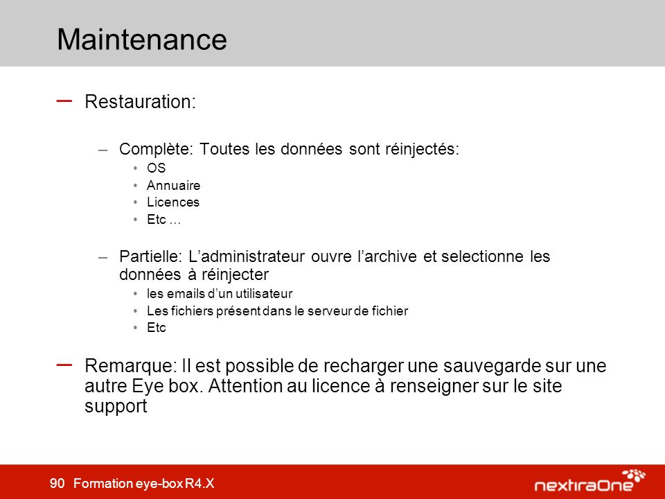 Maintenance Restauration: