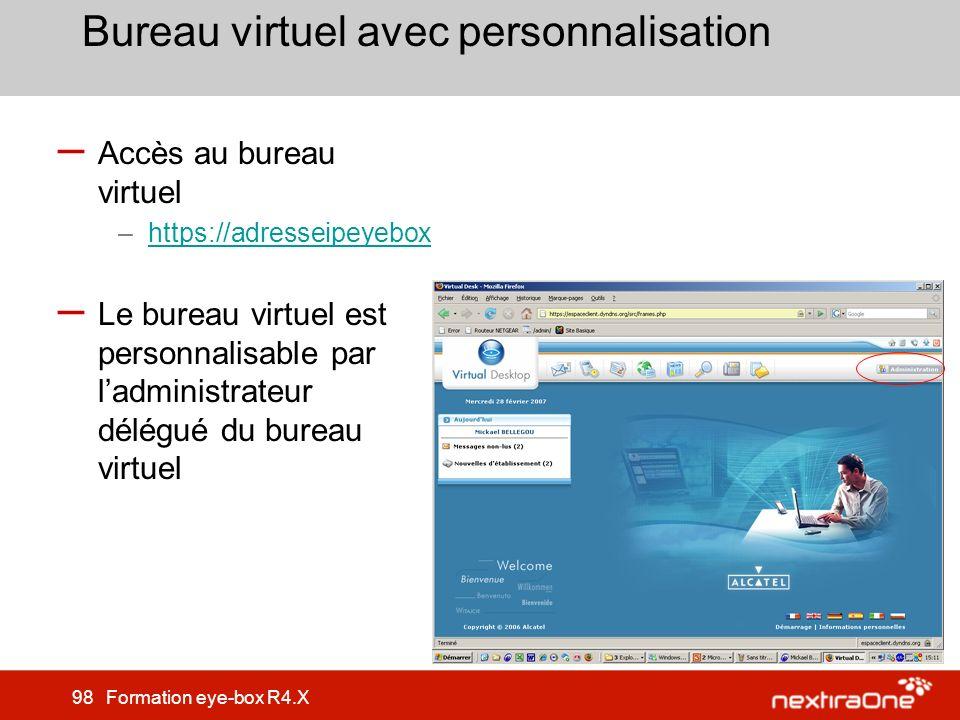 Bureau virtuel avec personnalisation