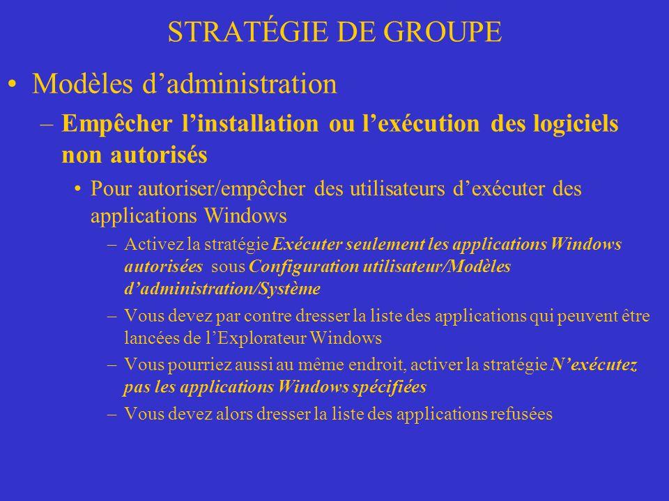 Modèles d'administration