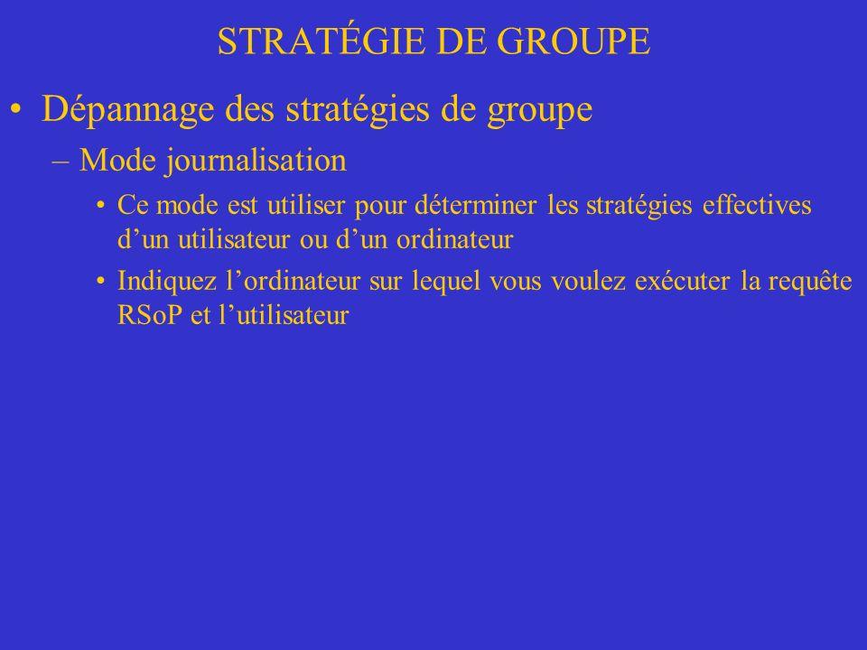 Dépannage des stratégies de groupe