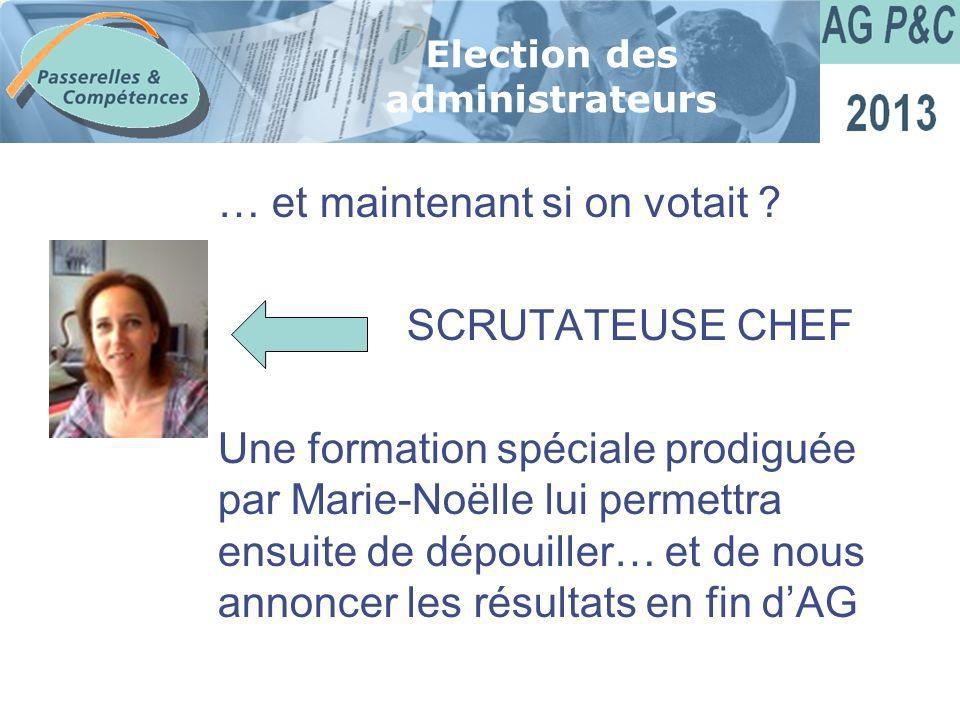 Election des administrateurs