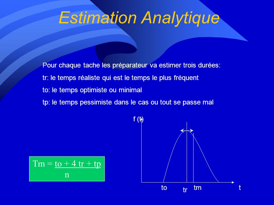 Estimation Analytique