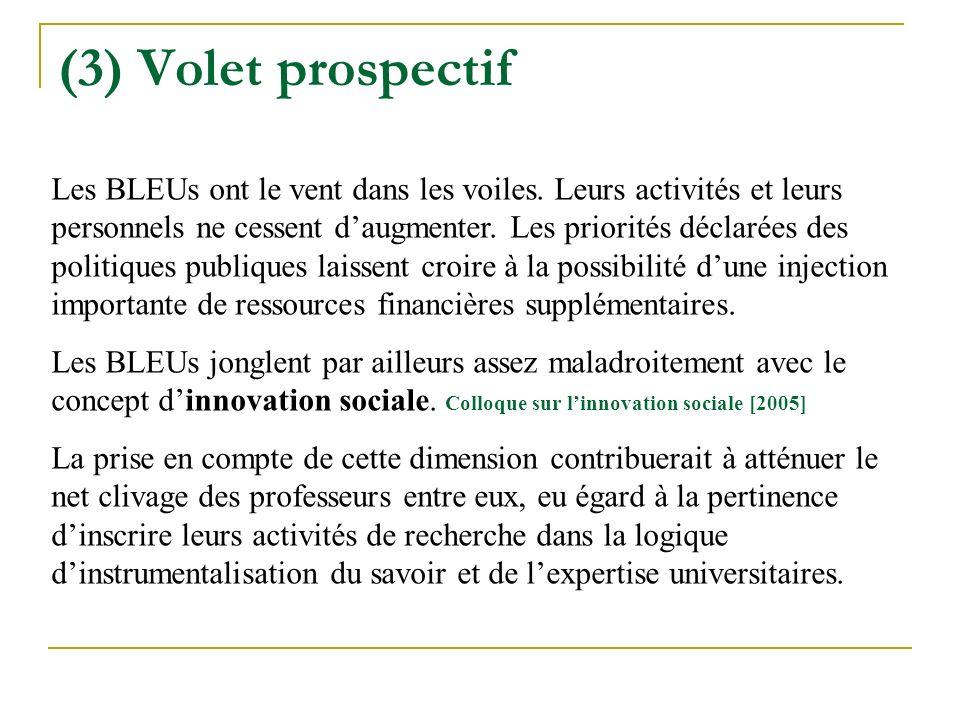 (3) Volet prospectif
