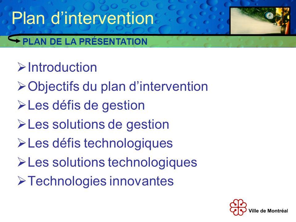 Plan d'intervention Introduction Objectifs du plan d'intervention
