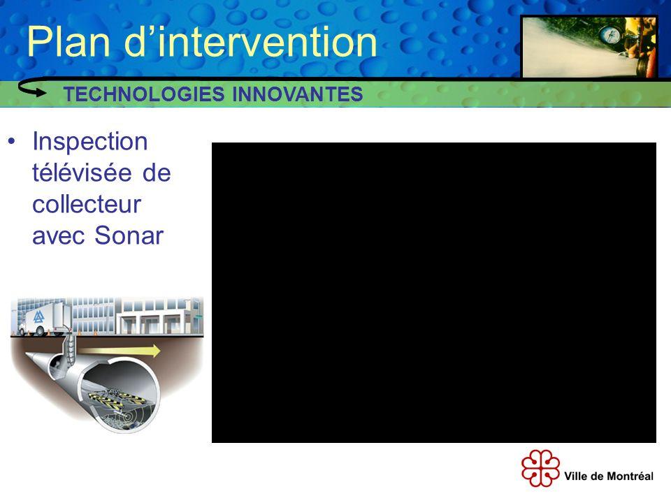 Plan d'intervention Inspection télévisée de collecteur avec Sonar
