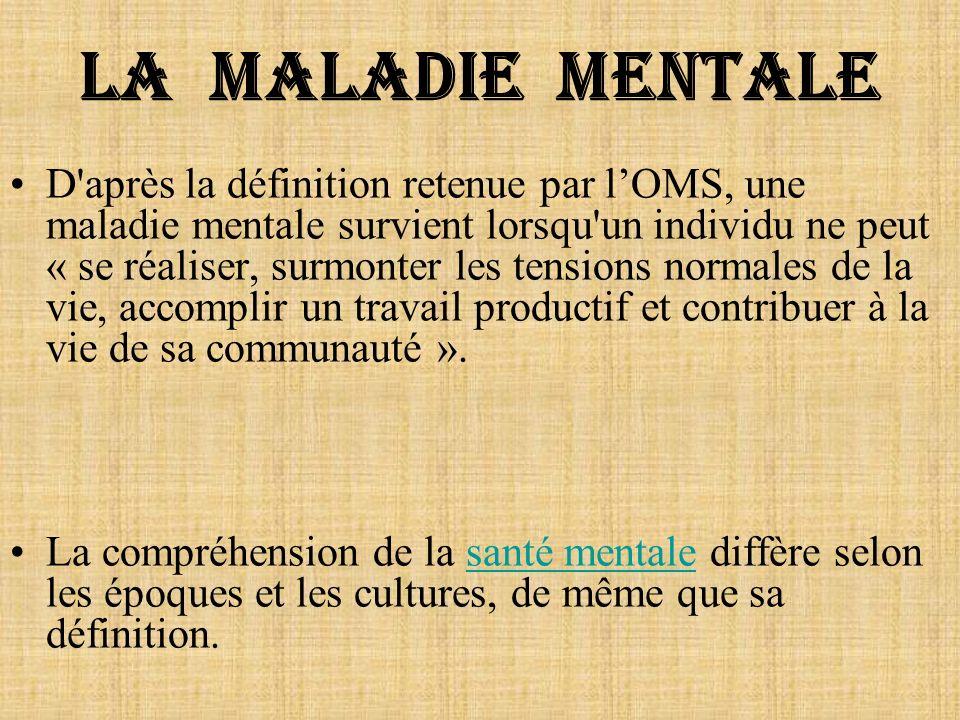La maladie mentale