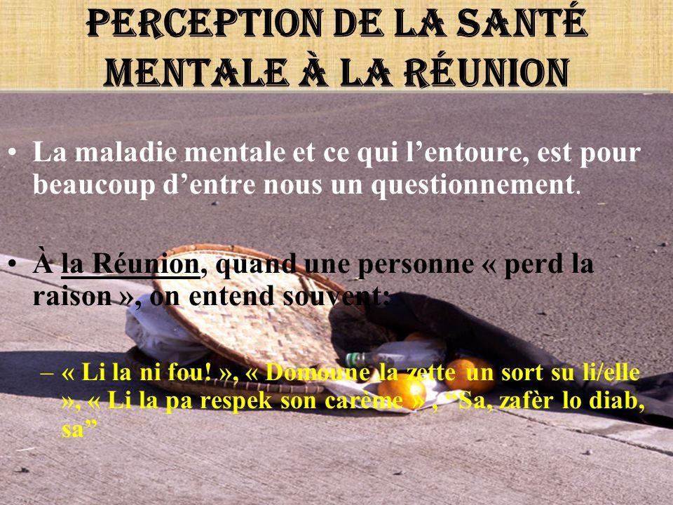 Perception de la santé mentale à la Réunion