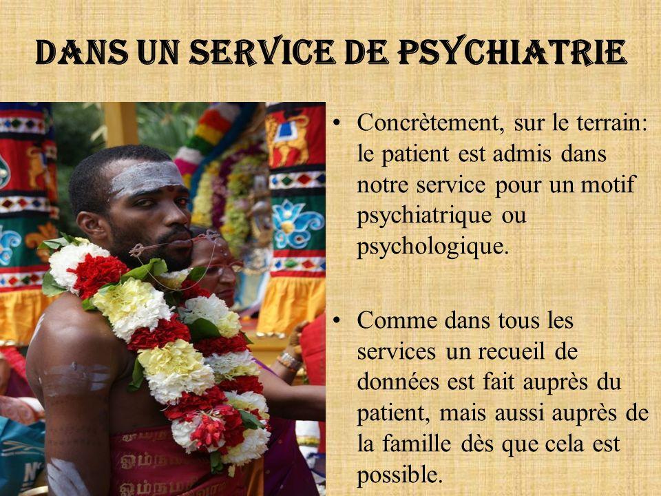 Dans un service de psychiatrie