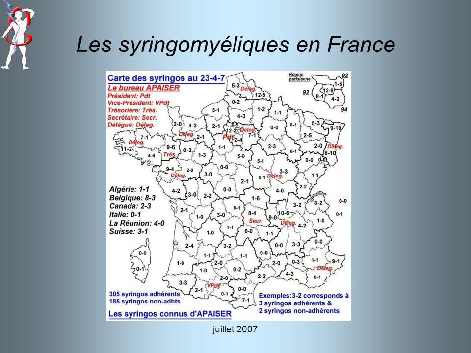 Les syringomyéliques en France