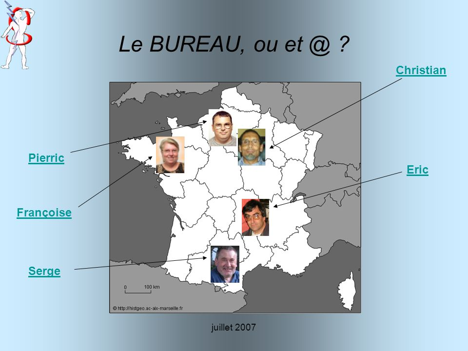 Le BUREAU, ou et @ Christian Pierric Eric Françoise Serge