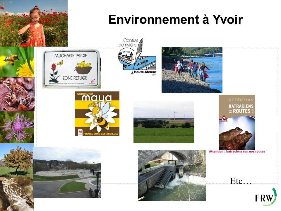 Environnement à Yvoir Etc…