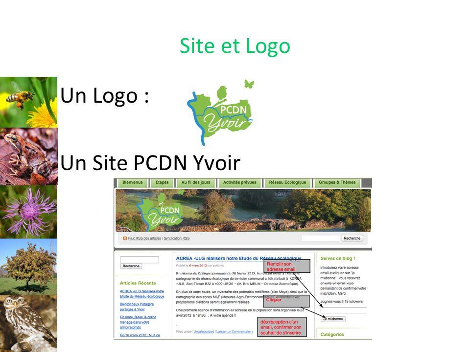 Site et Logo Un Logo : Un Site PCDN Yvoir Logo