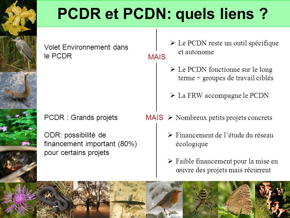 PCDR et PCDN: quels liens