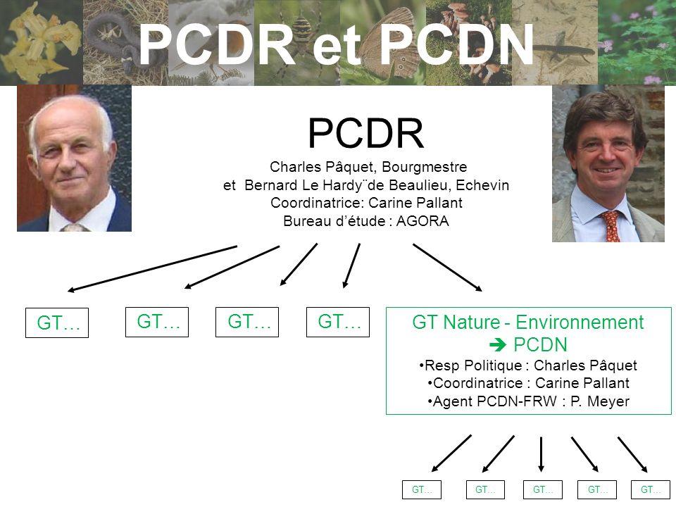 PCDR et PCDN PCDR GT… GT… GT… GT… GT Nature - Environnement  PCDN