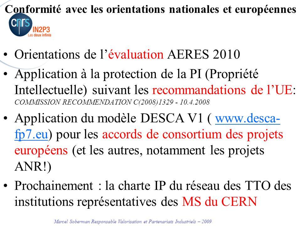 Conformité avec les orientations nationales et européennes