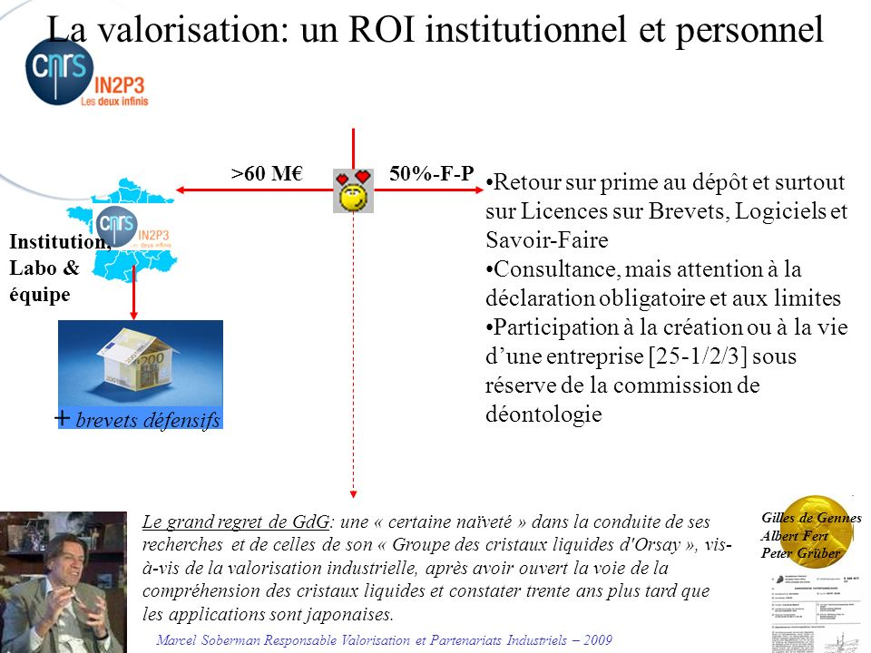 La valorisation: un ROI institutionnel et personnel