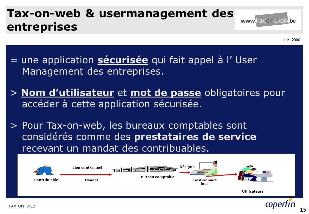 Tax-on-web & usermanagement des entreprises