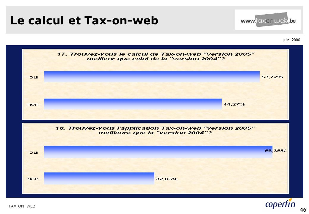 Le calcul et Tax-on-web