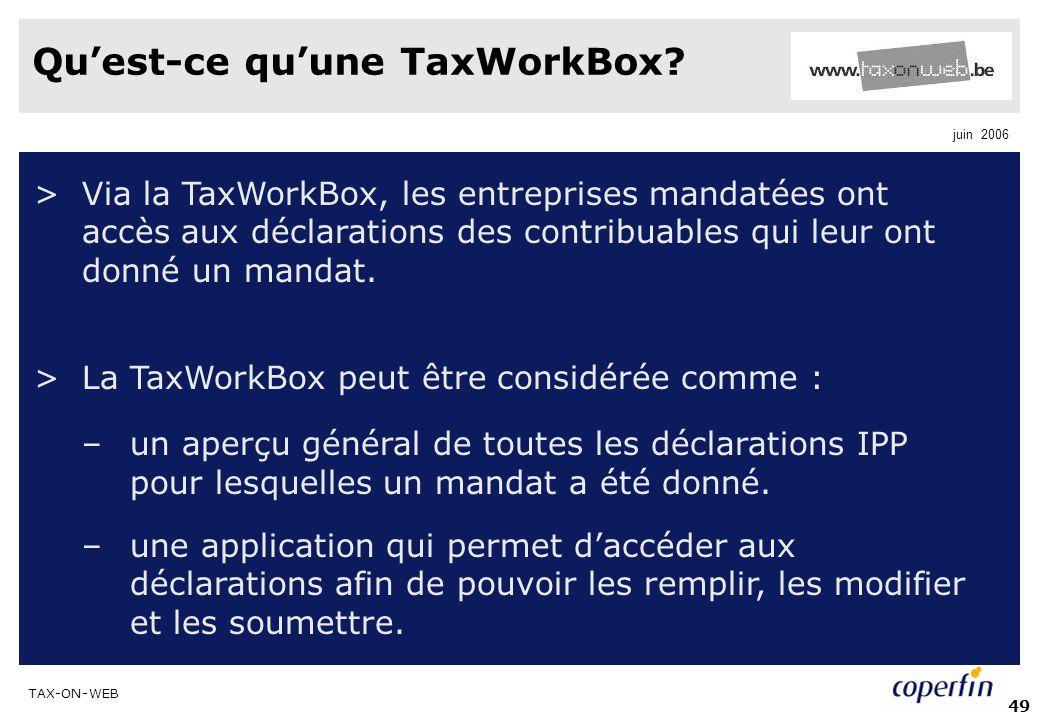 Qu'est-ce qu'une TaxWorkBox