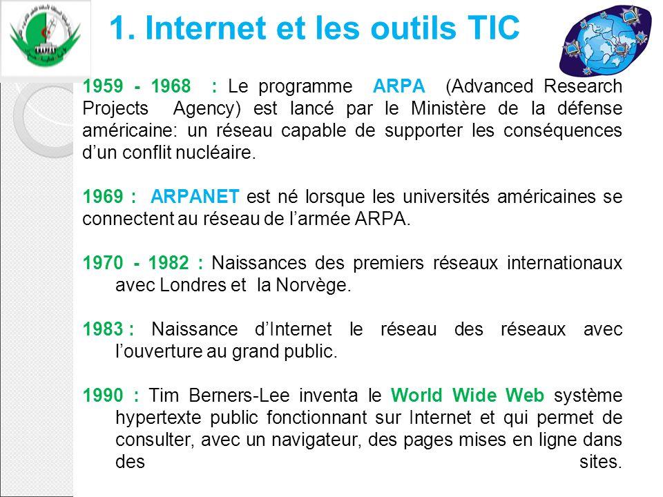 1. Internet et les outils TIC