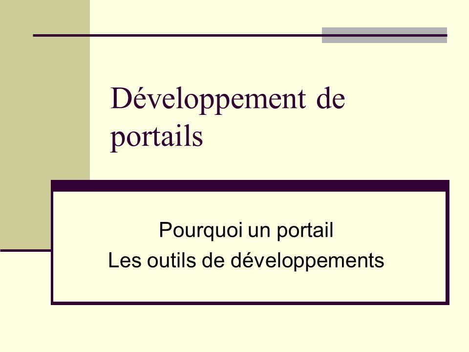 Développement de portails