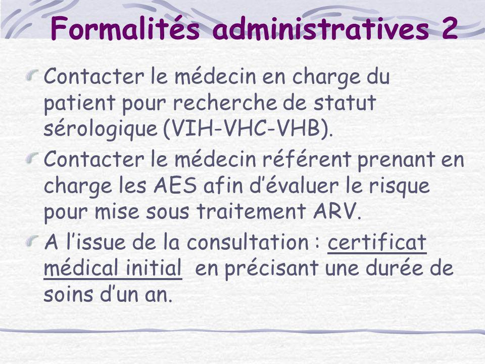 Formalités administratives 2