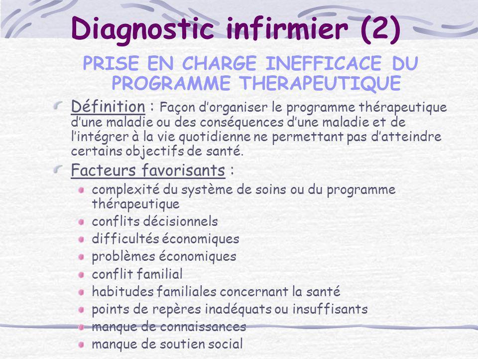 Diagnostic infirmier (2)
