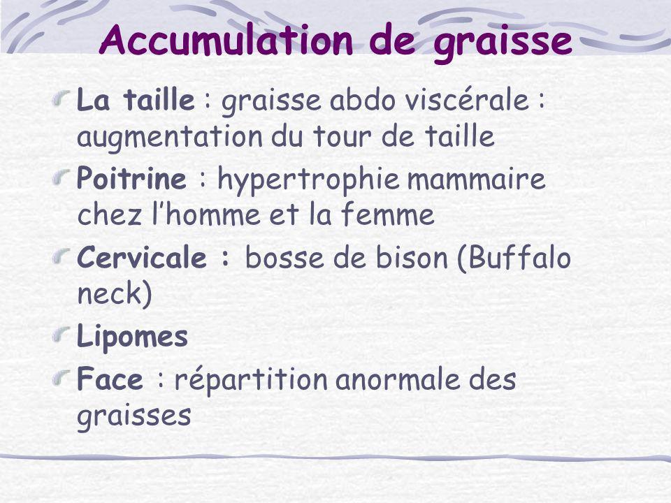 Accumulation de graisse
