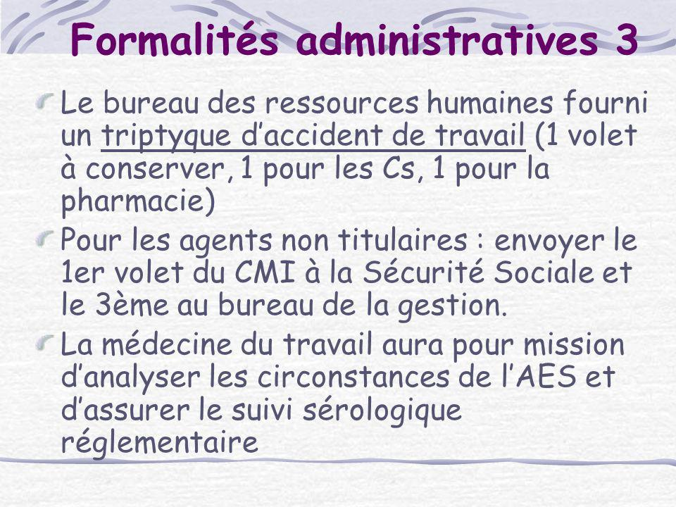 Formalités administratives 3