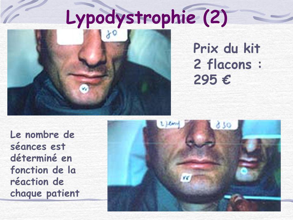 Lypodystrophie (2) Prix du kit 2 flacons : 295 €