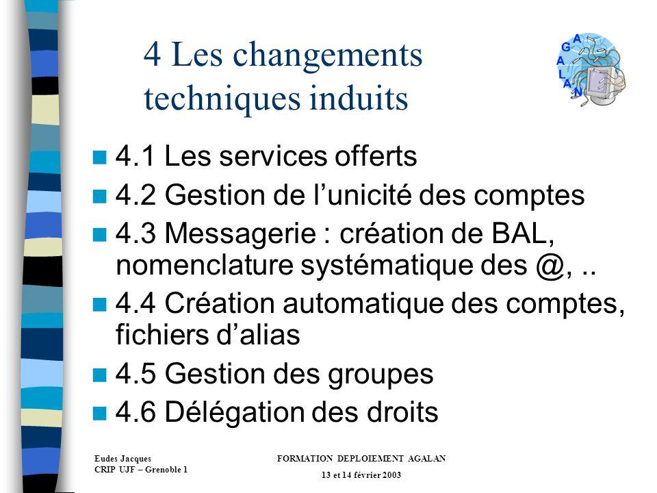 4 Les changements techniques induits
