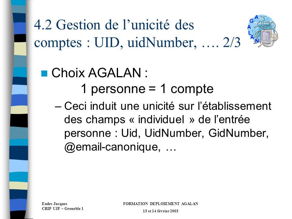 4.2 Gestion de l'unicité des comptes : UID, uidNumber, …. 2/3