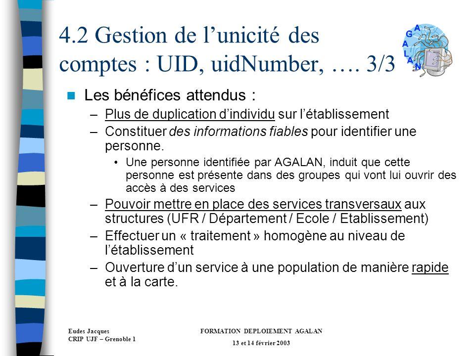 4.2 Gestion de l'unicité des comptes : UID, uidNumber, …. 3/3