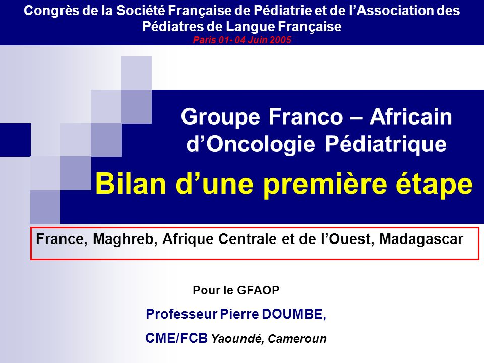 Groupe Franco – Africain d'Oncologie Pédiatrique